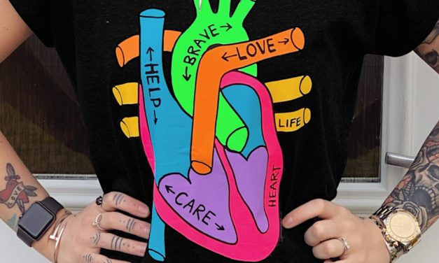 Heart of Scotland fundraising T-shirt