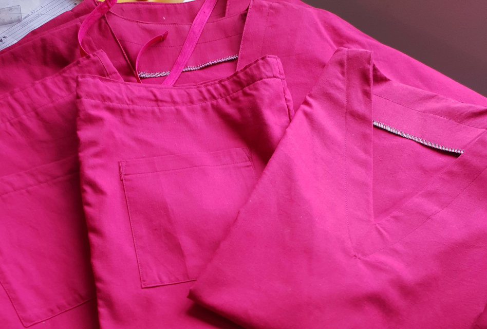 Nipa Threads sews scrubs for key workers