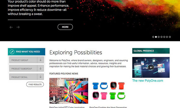 PolyOne launches new website