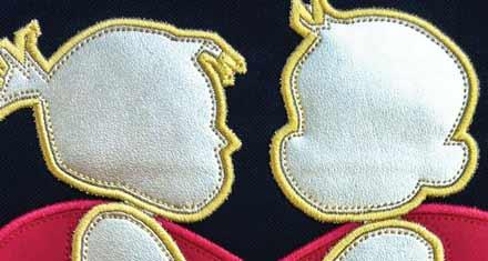 Appliqué embroidery on fashionwear