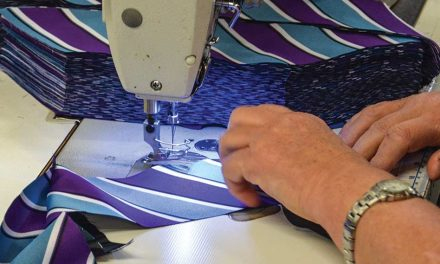 Behind the scenes of a tie-maker