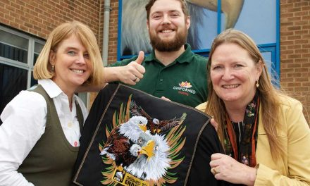 Penny Hunt wins Orn's Count the Stitches competition