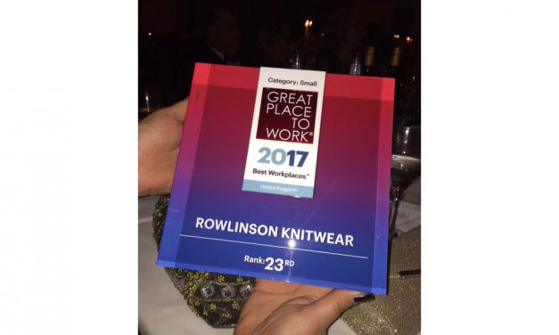 Rowlinson Knitwear named one of UK's Best Workplaces