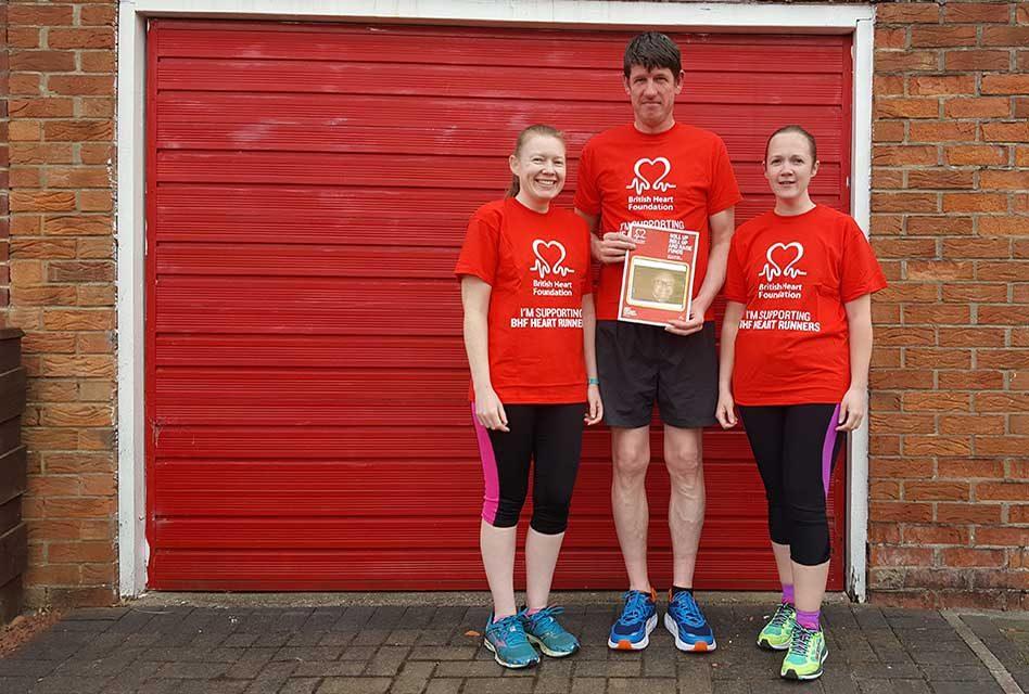 Dave Renton's children fundraise for British Heart Foundation