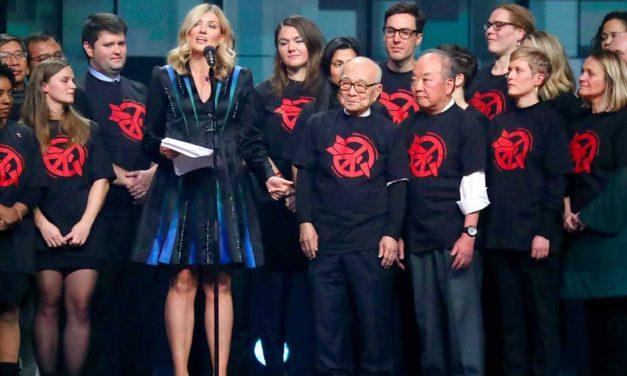 Nobel Peace Prize winner wears Embroline-embroidered dress