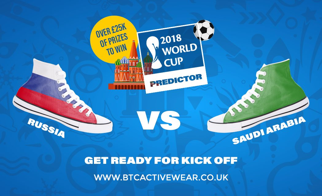 Score with BTC Activewear's World Cup Predictor game