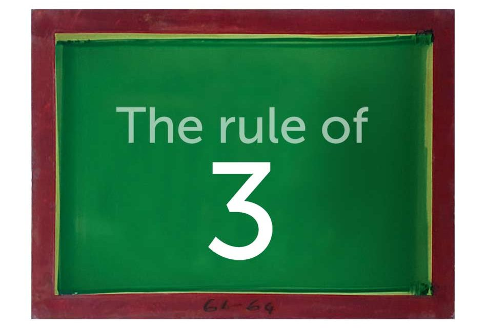 Training: The rule of three