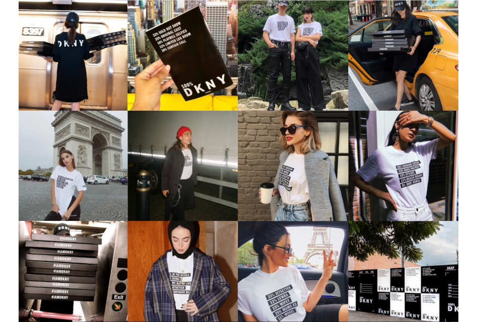 DKNY uses customised T-shirts to promote brand