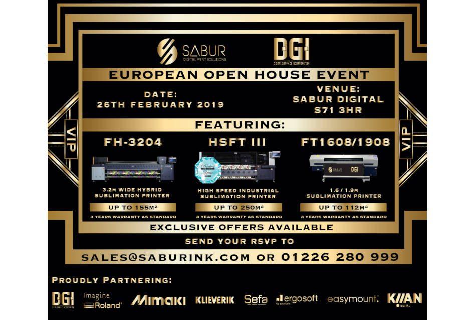 Sabur to hold DGI open house event