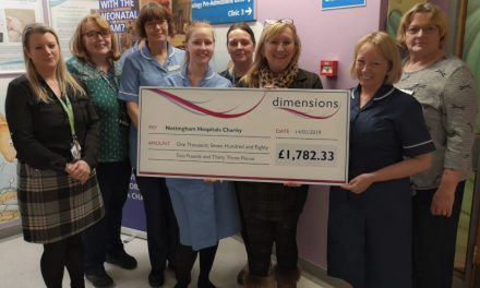 Dimensions raises £28,000 for charity in 2018