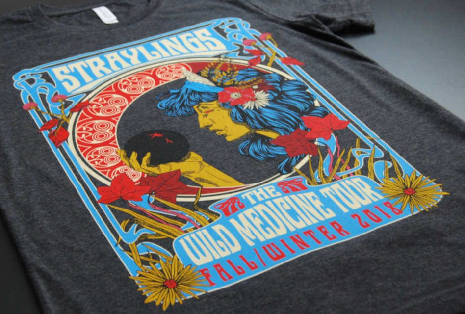 Anatomy of a print: Straylings band T-shirt