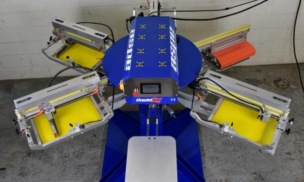 ASPE launches compact four-colour automatic screen printing press
