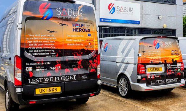 Sabur Digital helps raise £2,500 for Help for Heroes