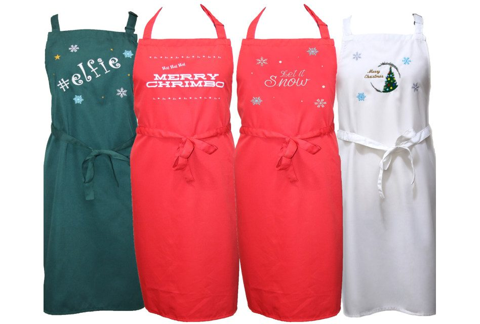 Dennys launches embroidered Christmas aprons
