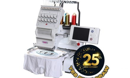 Win an embroidery machine in YES 25th anniversary prize draw