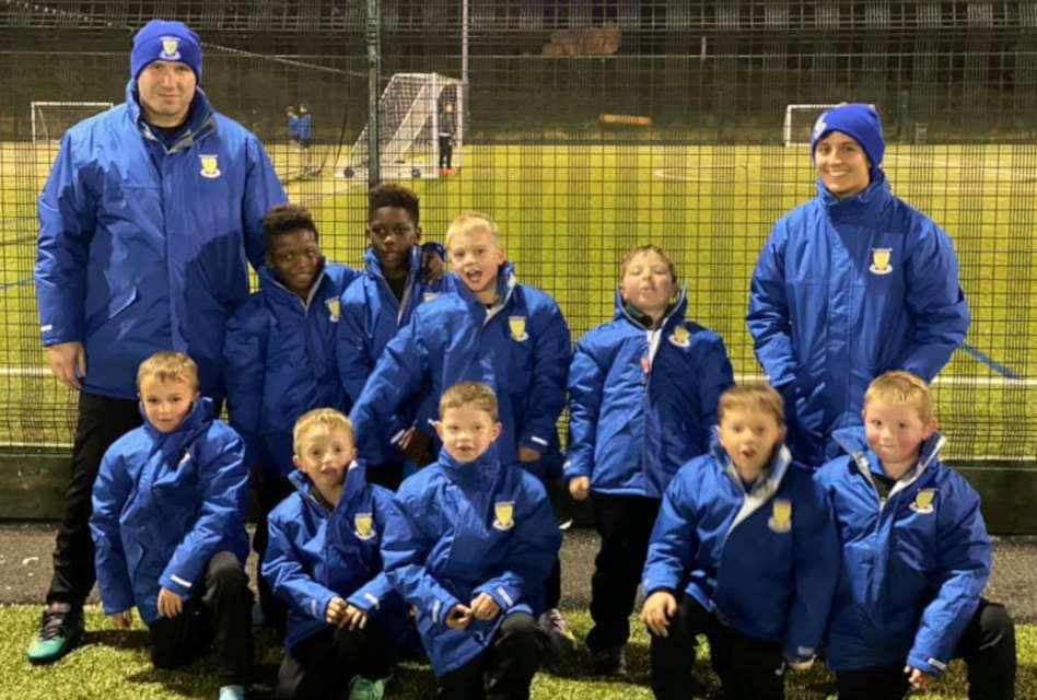 Result donates kit to kid's football team