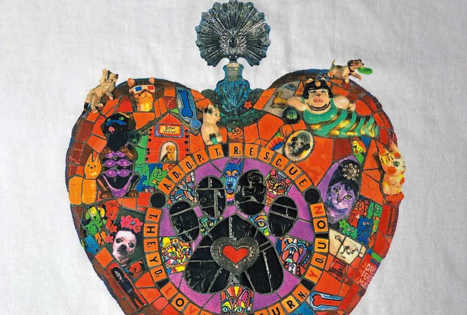 Anatomy of a print: Heart mosaic design