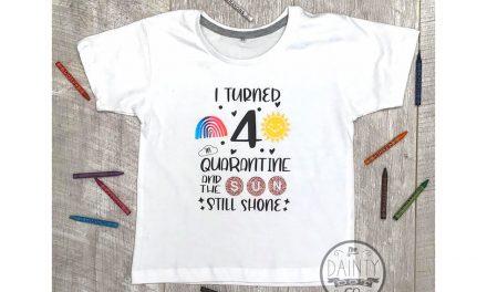 The Dainty Dot Co. creates quarantine birthday T-shirts for kids