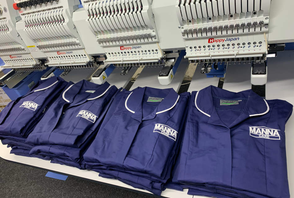 Creating embroidered workwear for the NHS and key workers