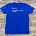Essential prints tees for new NHS Nightingale Hospital