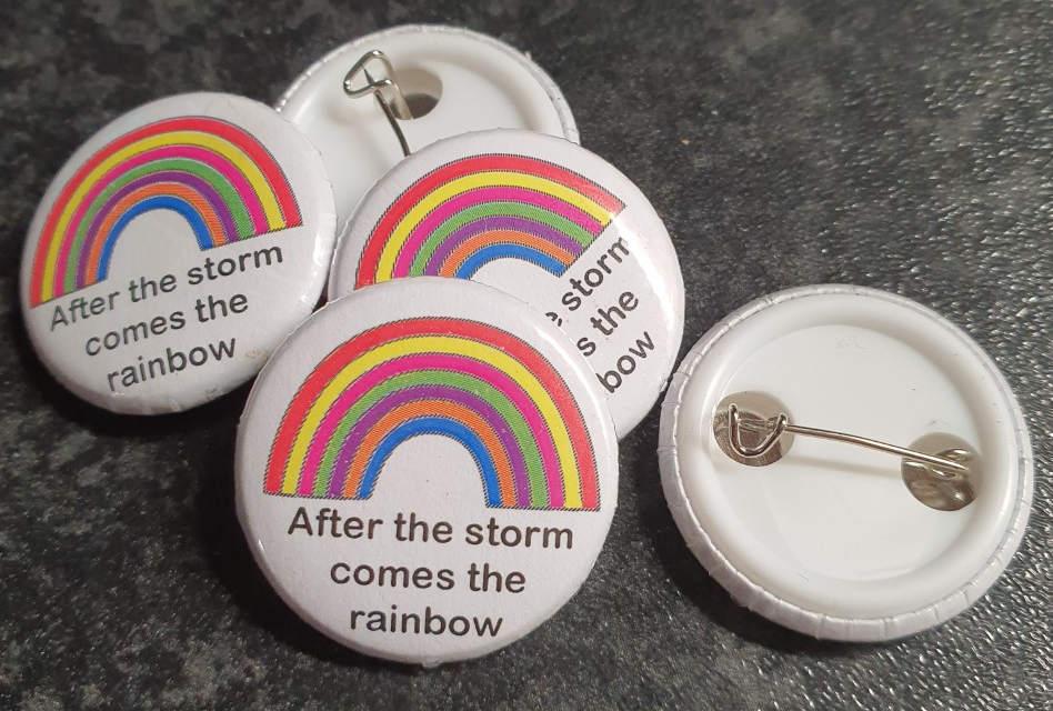 Retro Alley creates rainbow pin badges to raise money for charity