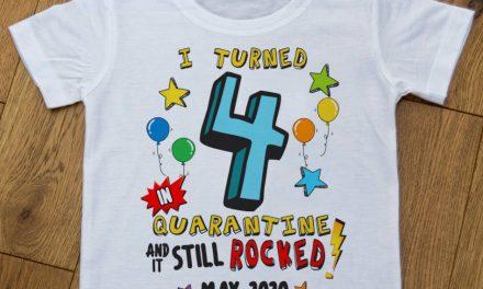 Lofty Creations creates sublimation-printed 'Birthday in Quarantine' T-shirts
