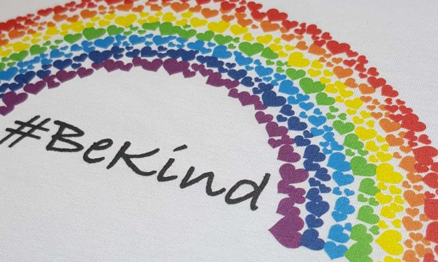 #Be Kind: Vinyl Bear creates rainbow tees to fundraise for NHS Charities Together