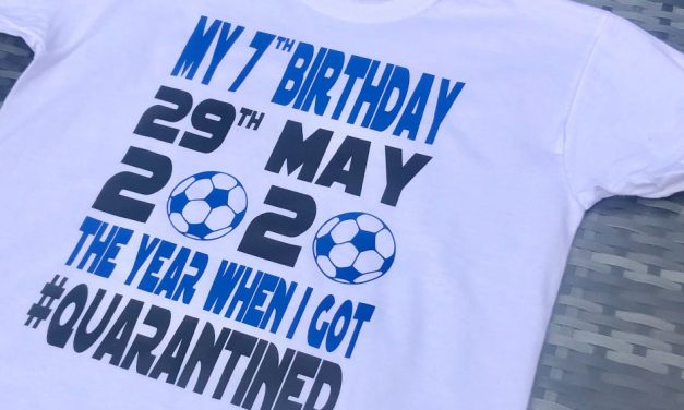 Personalised Warehouse creates 'Quarantine Birthday' custom tees