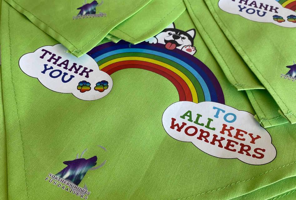 Thank you key workers: Peach Branding creates charity fundraising dog bandanas