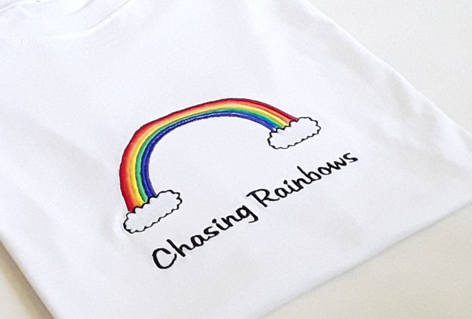 Chasing Rainbows: KMP Personalised Gifts raises money for NHS Charities Together with embroidered tees