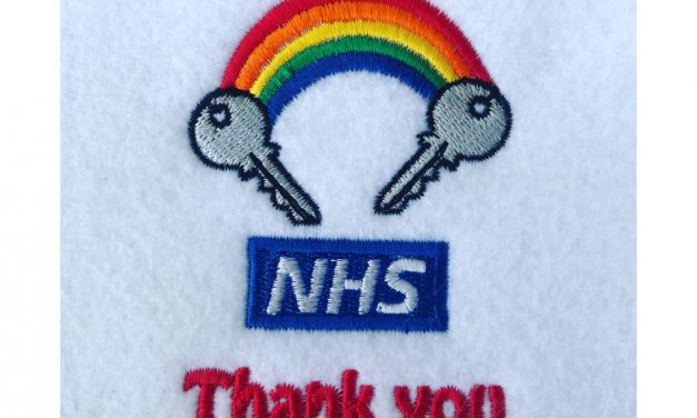 Thank You NHS: DM Designs shows support with embroidery design