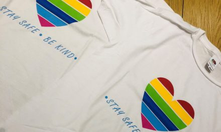 Stay Safe, Be Kind: KT Textiles creates rainbow heart tees