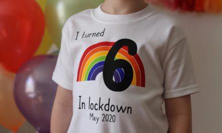 Birthday in lockdown: Squiggle Print creates rainbow tees for kids