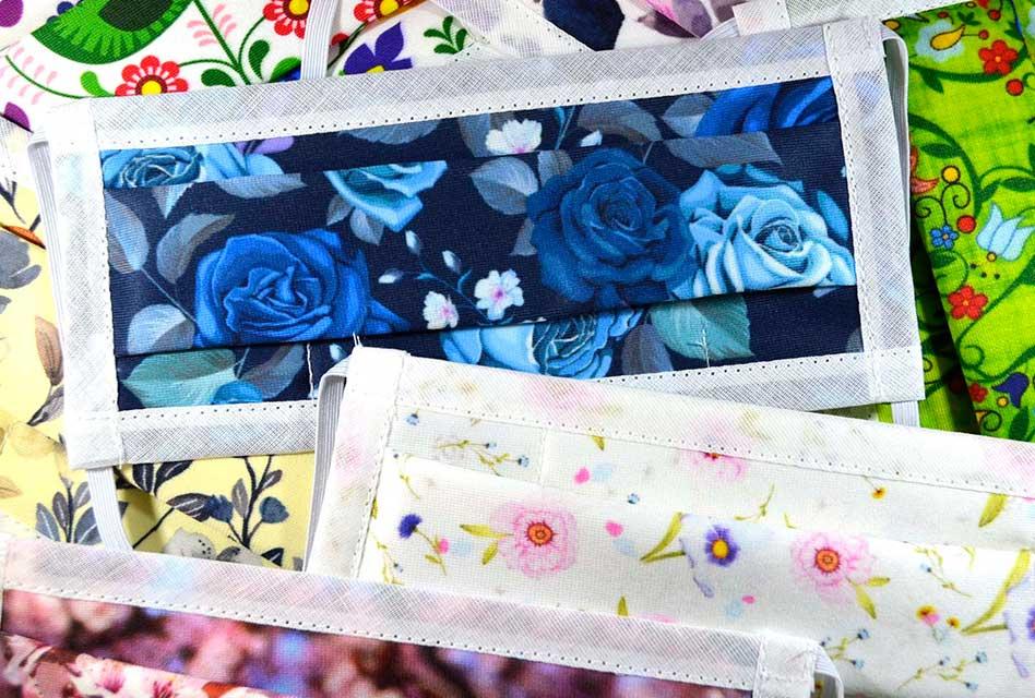 Badge Design flower pattern face masks