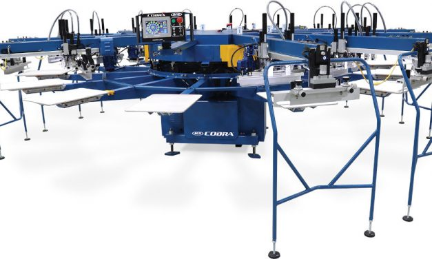 M&R introduces new Cobra automatic screen printing press