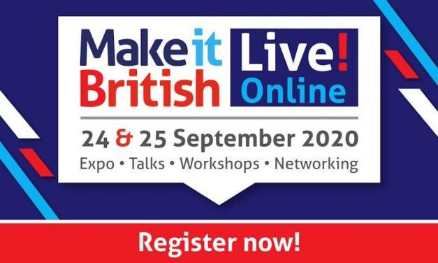 Registration open for Make It British Live! Online