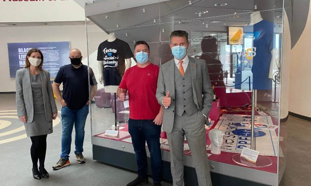 Wild Thang NHS tees on display at Museum of Liverpool