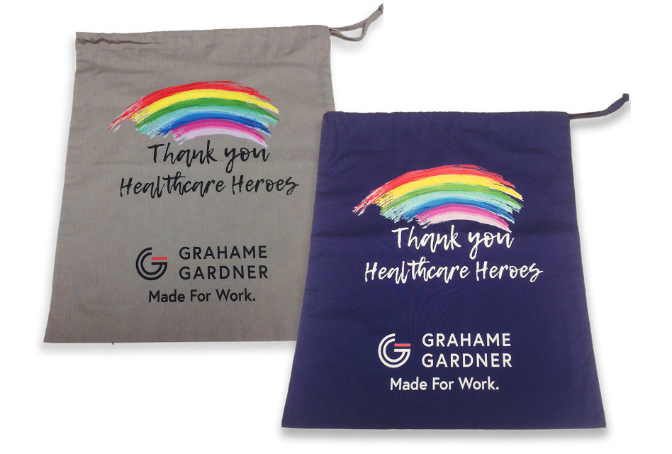 Grahame Gardner fundraises for NHS with 'Healthcare Heroes' bags