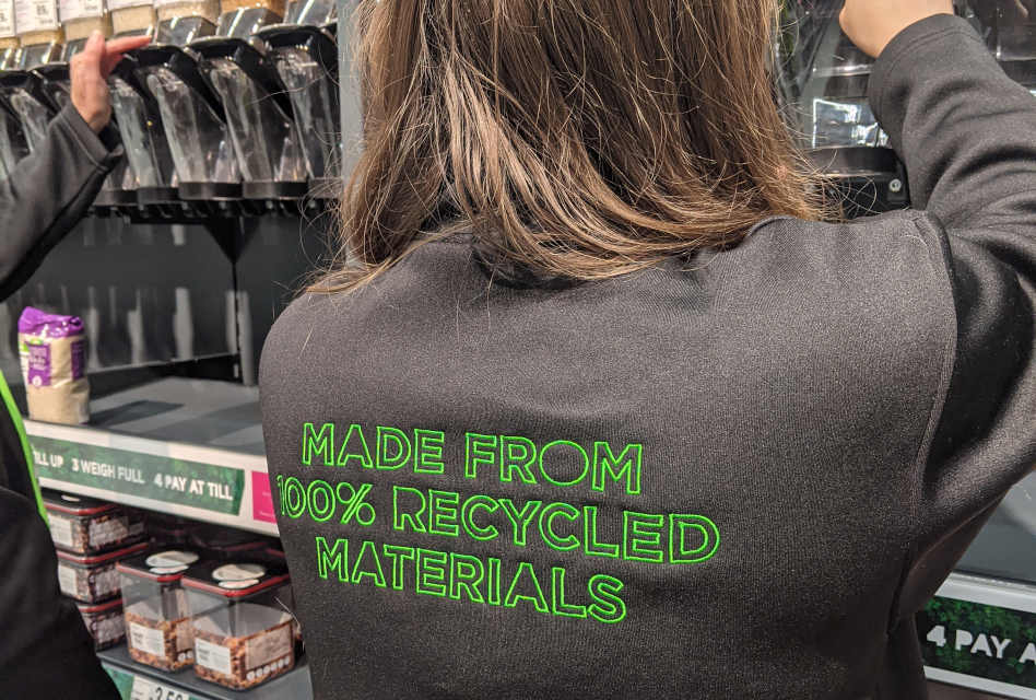 Dimensions produces 100% recycled staff uniform for Asda's first sustainability store