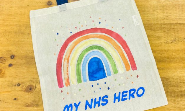 Decorator Report: My NHS Hero tote bags from The Mina Group