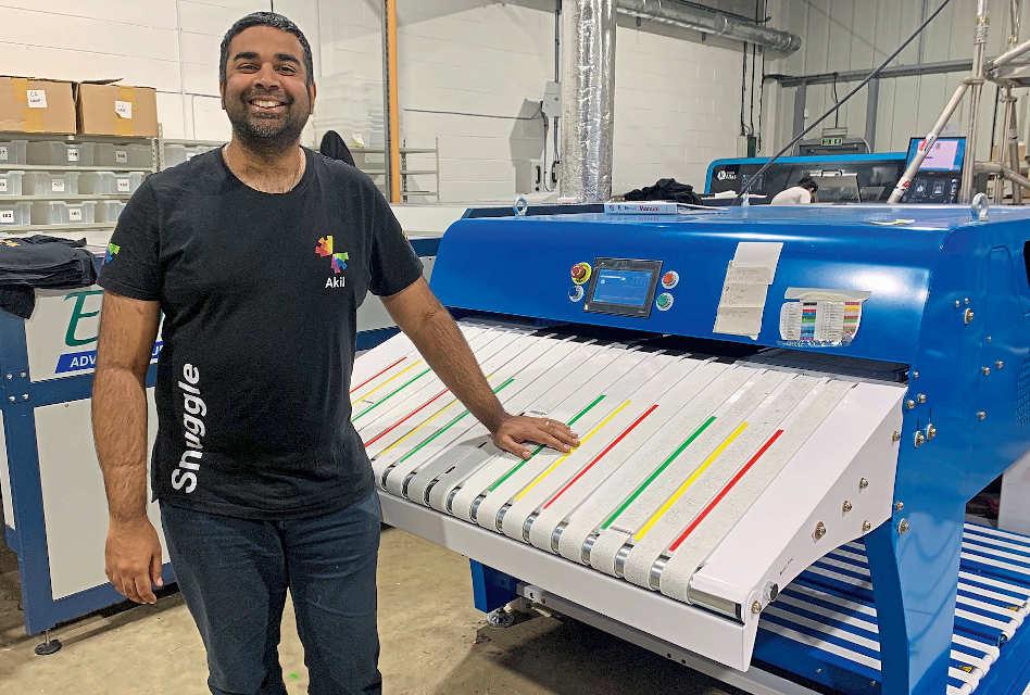 Snuggle and its Texfinity Garment Folding Machine