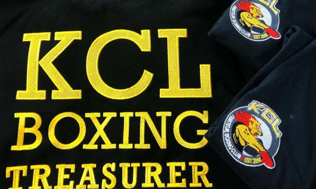 King's College London Boxing Club garments by Custom Club Clothing