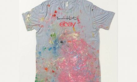 Bella+Canvas tee painted by Damien Hurst auctioned from £250,000