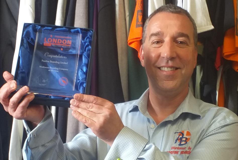 Positive Branding wins 'Workwear Branding Company of the Year' in London Prestige Awards 2020