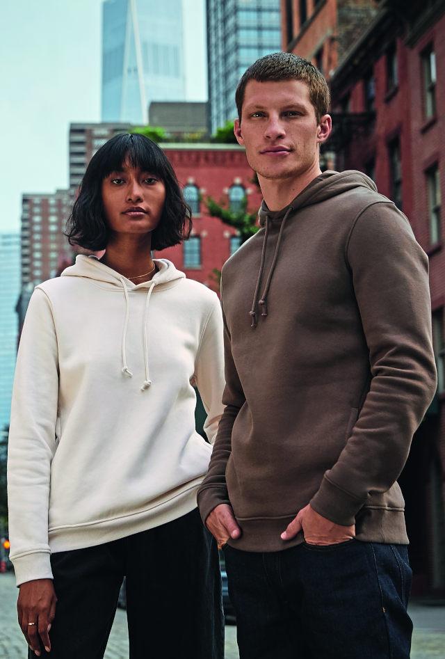 """B&C Organic Sweatshirts """"in perfect duo"""""""