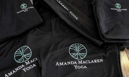 Embroidered yogawear by Wizzprint