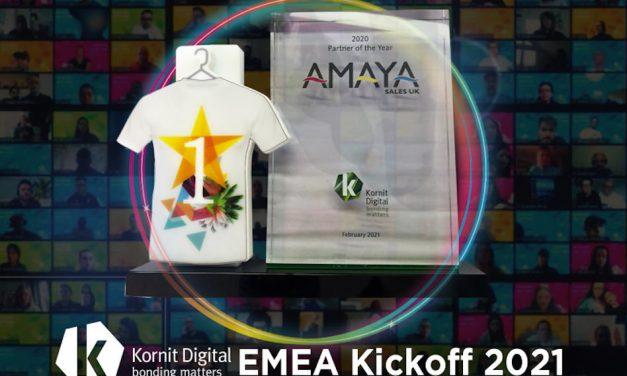 Amaya wins Kornit Digital's 2020 'Partner of the Year' award