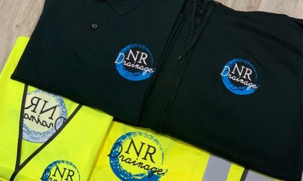 Embroidered workwear for NR Drainage by Personalise UK