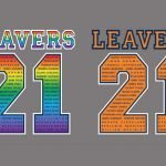 Jester Prints releases rainbow and multicolour 'Leavers' transfer
