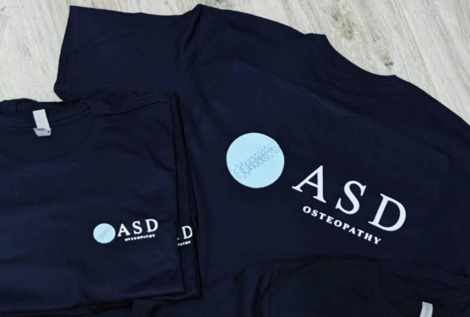 ASD Osteopathy workwear by Elephant Boy Printing